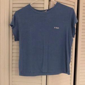 LA HEARTS Blue t-shirt